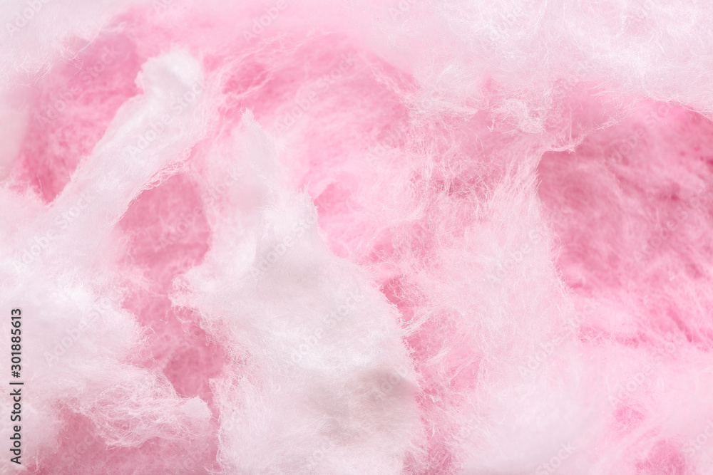 Fototapety, obrazy: Texture of cotton candy, closeup