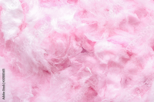 Texture of cotton candy, closeup Fotobehang
