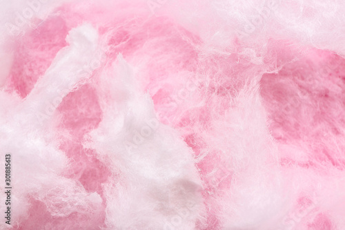 Fotografiet  Texture of cotton candy, closeup