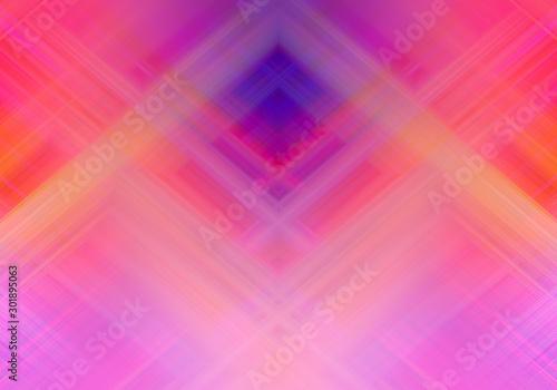 Carta da parati  Crossing Diagonal Colorful Stripes seamless pattern