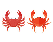 Red Crab Vector. Colorful Crab...