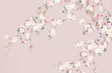 Flower,Watercolor Flowers, Suitable For Wallpaper Design