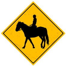 Horse Rider Sign