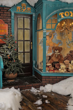 Vintage Toy Store On Christmas...