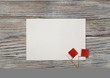 December 16 . Bahrain independence day. mini flags on wooden background with white paper sheet