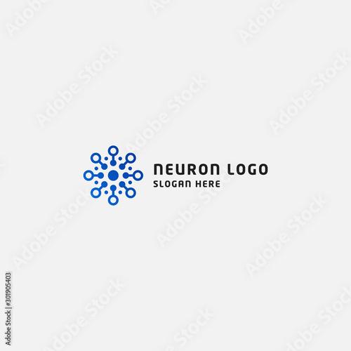 neuron logo design template vector illustration Wall mural