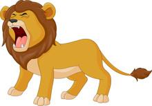 Cartoon The Lion Is Roaring