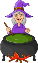 The Witch Is Stirring The Potion