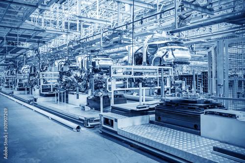 Fotografie, Tablou Automobile production line