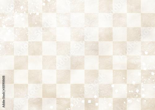 市松模様 白