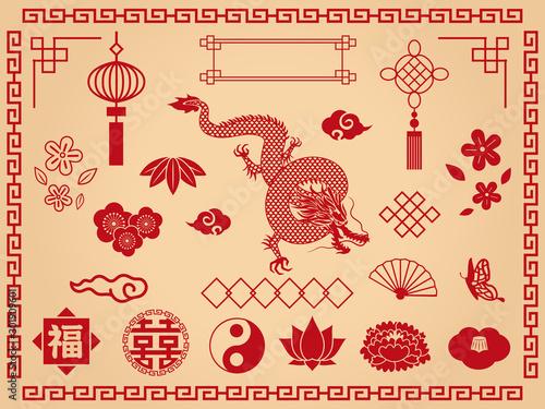 Canvas 中華飾り素材集1