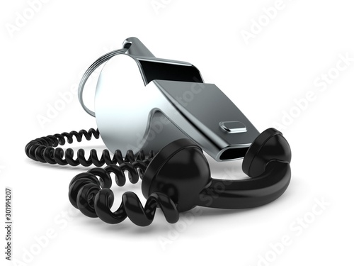 Cuadros en Lienzo  Whistle with telephone handset