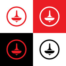 Whirligig Or Spin Top Logo Des...