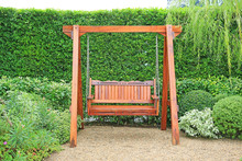 Wooden Swing Chair In Natural ...