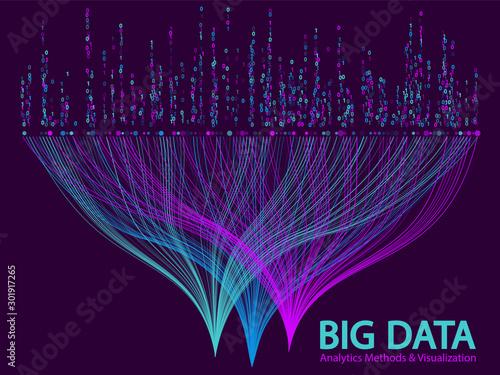 Fotomural  Big data visualization concept vector.