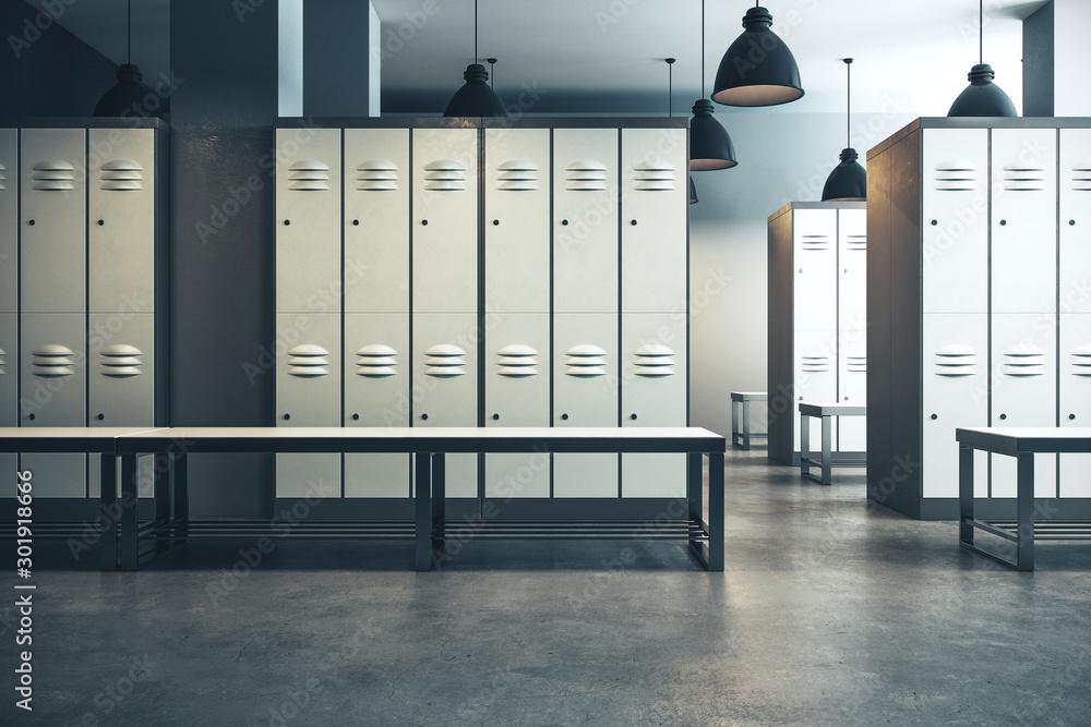 Fototapety, obrazy: Modern locker room interior