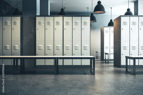 Modern locker room interior - 301918666