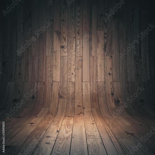 curved wooden parquet