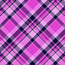 Tartan Purple And Blue Pattern.