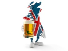 UK Character Holding Beer Glass