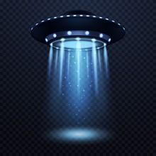 UFO. Realistic Alien Spaceship...