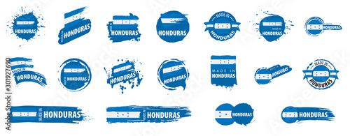 Honduras flag, vector illustration on a white background Fototapet