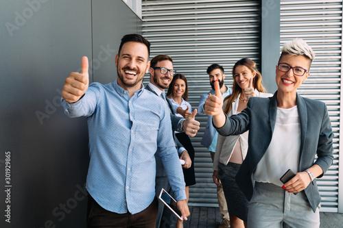 Fototapeta Successful entrepreneurs and business people achieving goals obraz