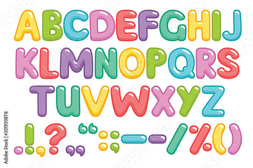 Funny children font with color letters Canvas-taulu