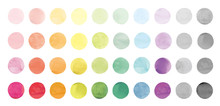 Vector Set Of Rainbow Watercol...