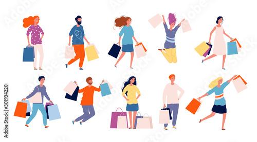 Fotografia Shopping people
