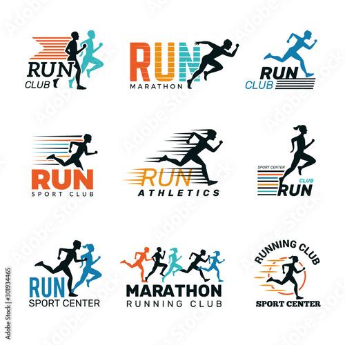 Running logo Fototapet