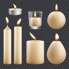 Candles Collection. Decorative...
