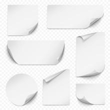 Curled Sticker. Blank Etiqueta...