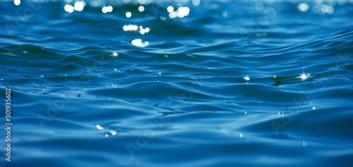 Obraz Blue sea water background texture - fototapety do salonu