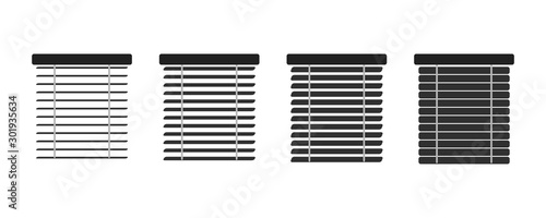 Set of isolated icons window blinds Canvas Print