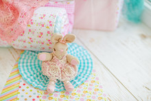 Pastel Decorations In The Nursery: Delicate Elements Of Wood, Cloth, Paper Decor