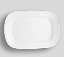 Empty White Dish Plate Backgro...
