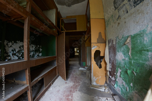 Apartment at communist abandoned soviet military base in east Germany - Secret t Wallpaper Mural