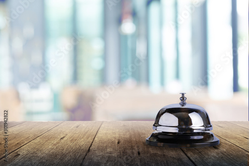 Bell of service on bokeh background