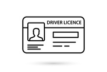 Id Card Icon. Identification Card Simple Linear Vector Icon. Driver License. Documents Driver's License Identification. Icon For Apps And Websites