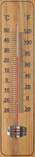 Wooden Thermometer With Celsius And Fahrenheit Heat Units