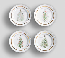 Set Of 4 Matching Decorative P...