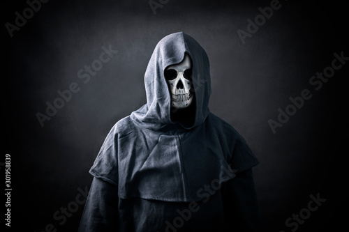 Canvas Print Grim reaper in the dark