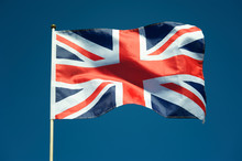 Single British Union Jack Flag...