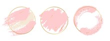 Gold Pink Background. Circle G...
