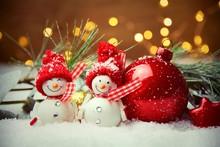 Weihnachtskarte Oder Hintergru...
