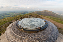 Toposcope Map On The Beacon, Malvern Hills Worcestershire England, UK