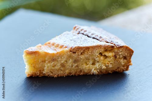 Neapolitan Pastiera (Easter cake), close-up Canvas-taulu