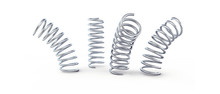 Metal Jumping Spring Isolated On A White Background 3D Illustration, 3D Rendering