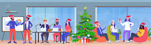 Business People Wearing Santa ...
